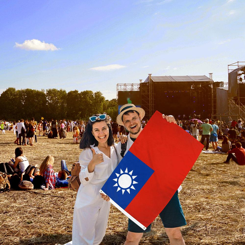 Taiwan Flag 2x3ft Poly Flags Importer International House Flag